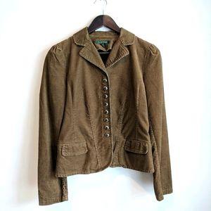 Ralph Lauren Tan Corduroy Jacket XS